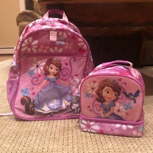 Girls Disney Store Backpack And Lunchbag
